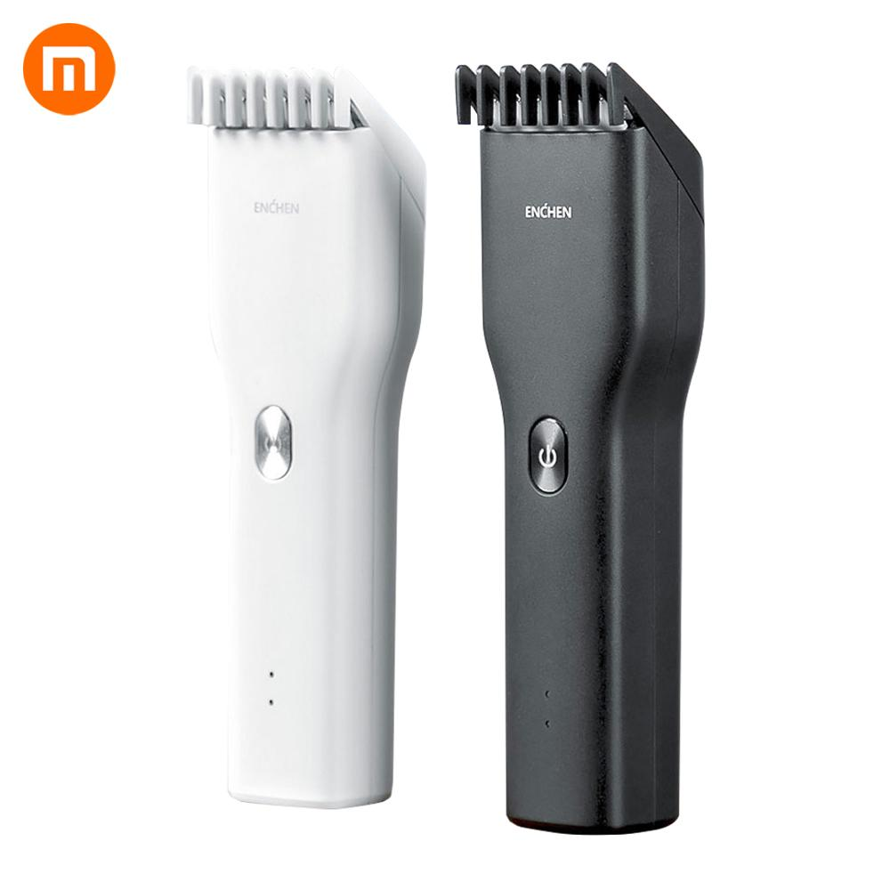 Newest Xiaomi Mijia Enchen Boost USB Electric Hair Clipper Two Speeds Ceramic Cutter Hair Fast Charging Hair Trimmer Kids Man