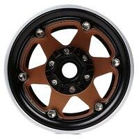 INJORA 4PCS Metal 6 Spokes 1.9 Beadlock Wheel Hub Rim for 1/10 RC Crawler Axial SCX10 90046 AXI03007 Traxxas TRX4 RedCat MST 3