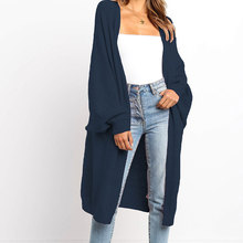 vogue Nice Loose Knit Woolen Cardigan Sweater Long Sleeve Warm Solid Color Women