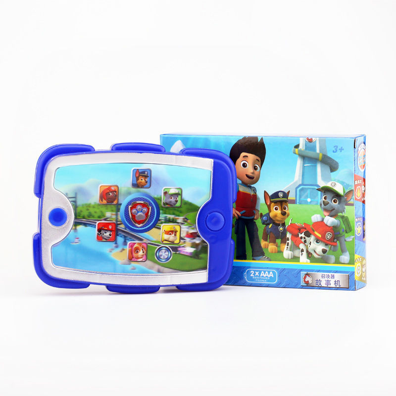 Paw Patrol Dog Ryder Tablet Music Sound And Light Set Patrulla Canina Dog Action Figure Model Children's Toys Birthday For Gift