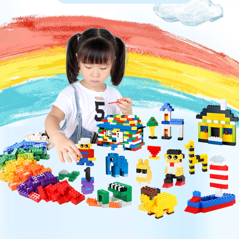 building blocks sets <font><b>1000</b></font> <font><b>pcs</b></font> classic city creator colorful bricks <font><b>compatible</b></font> with top brand kids educational toys for children image