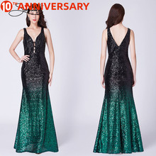 OLLYMURS cocktail party evening dress female round neck sleeveless open back high slit small tail beaded cloth evening dress graceful plunge neck slit open back midi dress for women