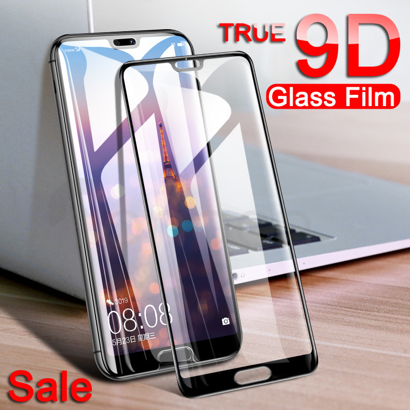 9D Protective Glass For Huawei P20 Pro P20 Lite Plus Huawei Nova 3 3E 3i 4 4E 5 5i P Smart Tempered Screen Protector Glass Film
