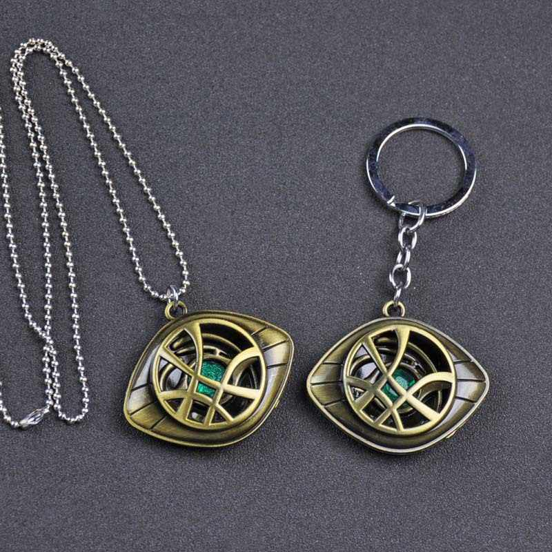 Nouveau Avengers 3 porte-clés en métal Logo docteur étrange docteur étrange il y a Moto oeil porte-clés collier