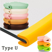 U Type 2M Baby Safety Table Protect Edge Of Table Family Baby Buffer Children Bar Strip Soft Thicken Free Collision Angle
