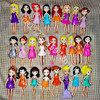 New Mixed 6pcs/12pcs/set Cute Polly Pockets Girl Doll Figures 9-12cm For Best DIY DOLL Gifts 1