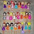 Новые смешанные куклы, 6 шт./12 шт./компл. милые куклы с карманами, девочки, Фигурки 9-12 см, лучшие подарки для кукол своими руками