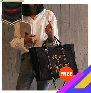 2020 Новая Стильная джинсовая сумка, модная сумка на цепочке, сумка на плечо, модная новая стильная женская сумка, спортивная сумка, большая ем...