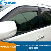 Side Window Deflectors For Toyota Land Cruiser Prado 2013 2014 2015 2016 Wind Shields Window Visor Sun Rain Deflector Guards UNZ window visor vent shades sun rain guard for toyota prado fj120 2003 2009