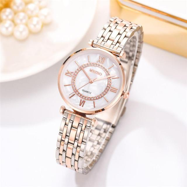 Women Watches Top Brand Luxury 2020 Fashion Diamond Ladies Wristwatches Stainless Steel Silver Mesh Strap Female Quartz Watch 2