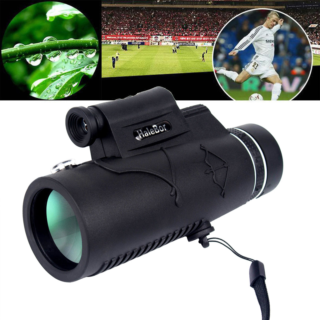 HaleBor High Definition Telescope 12X50 Monoculars For Outdoor Hunting Optical Low Light Night Vision Monoculars Fixed Zoom