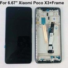 Pantalla LCD Original 6,67 probada para Xiaomi Poco X3, NFC, MZB07Z0IN, + Digitalizador de Panel táctil, Poco X3, M2007J20CG + Marco, 100% pulgadas