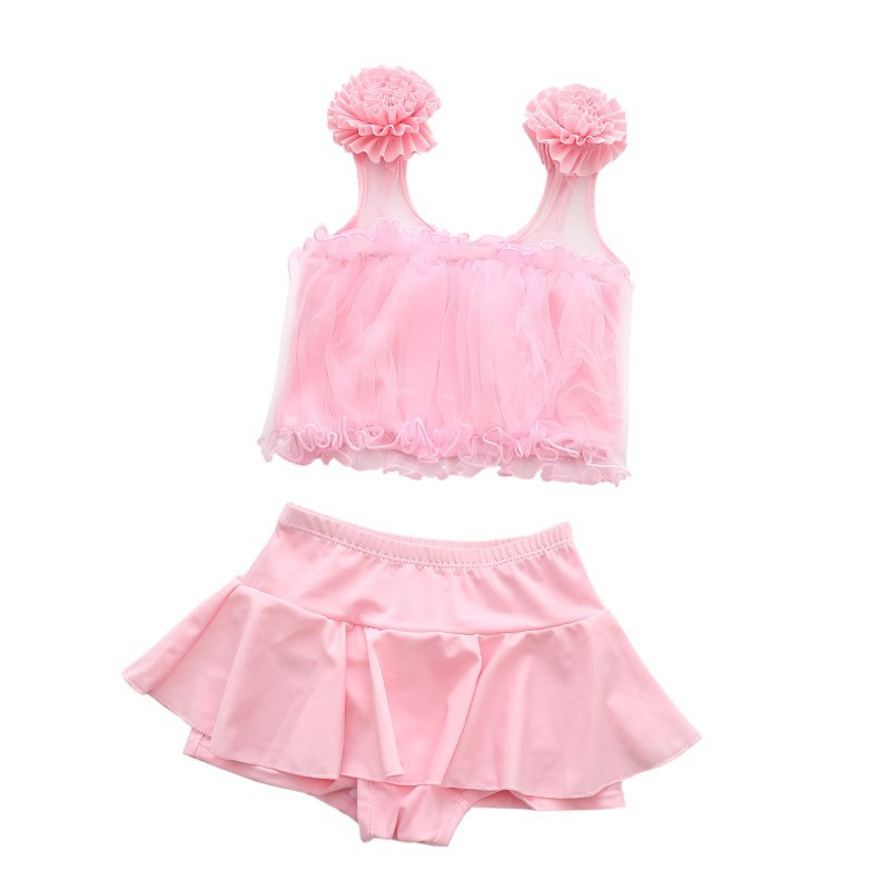 Online Celebrity-Bathing Suit Girls 2019 New Style Children Split Type South Korea Swimming Suit Sports Princess GIRL'S Baby Kor