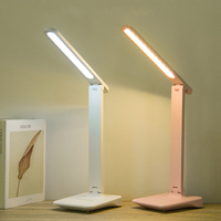 Hot  LED  Adjustable USB Rechargeable Table Lamp Touch Controll Brightness Reading Eye-Protect Led Table Lamp