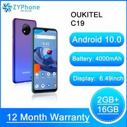 6,49 ''HD 2 Гб 16 Гб Quad Camera смартфон MTK6737 Восьмиядерный Android 10,0 мобильный телефон 4000 мАч OUKITEL C19