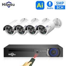 H.265 48V 8CH 5MP 4MP POE NVR Sistema Outdoor PoE IP CCTV Telecamera di Sicurezza A Raggi Infrarossi Impermeabile Hiseeu