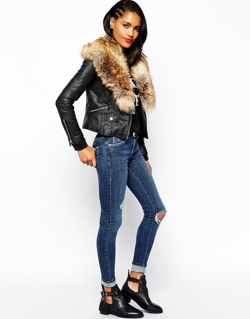 Женская мотоциклетная куртка из искусственной кожи черная толстовка