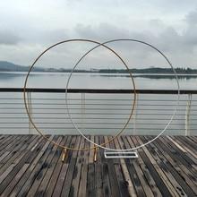Cerchio Arco di Nozze Sfondo Mensola In Ferro Battuto Puntelli Decorativi FAI DA TE Rotonda Partito Sfondo Mensola Del Fiore con Telaio