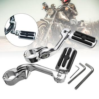 2Pcs 32mm Universal Aluminum Alloy Motorcycle Foot Peg Pedal Footrest for Harleys Foot Pegs Pedal Passenger Rearsets