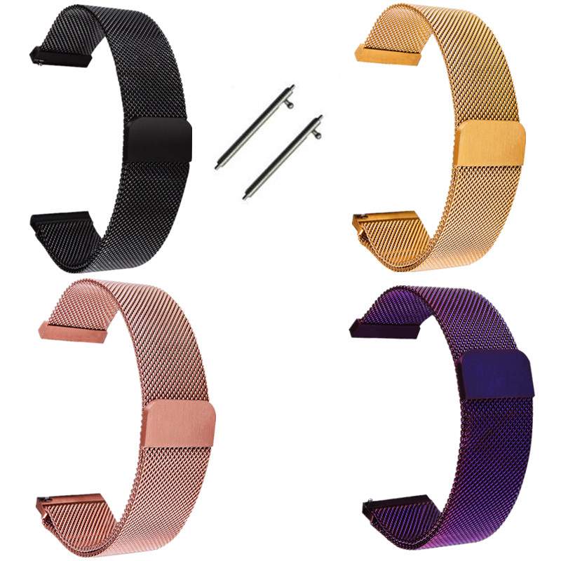 6 Colors Quick Release Watch Band Fullmosa Milanese Magnetic Closure Stainless Steel Watch Strap 14mm/16mm/18mm/20mm/22mm/24mm
