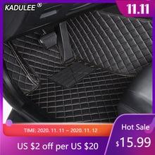 KADULEE カスタムルノーのフルエンスの車のフロアマット kadjar captur 風光明媚な 3 ラグナサンデロ防水カーアクセサリー足マット