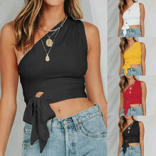 Women Ladies Casual Sleeveless Tank Tops Vest Crop Top Short T Shirt S-XL