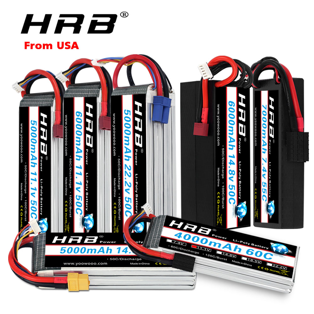 HRB 3S <font><b>Lipo</b></font> Battery 11.1v 4s <font><b>6s</b></font> 14.8v 22.2v 1300mah 1500mah 5000mah <font><b>2200mah</b></font> 6000mah 3300mah Battery for RC Car Drone helicopter image