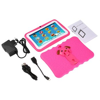 7 Inch Quad Core Kids Children Tablet PC 1GB RAM+8GB ROM Professional Learning Education Tablet Computer for Android 4.4