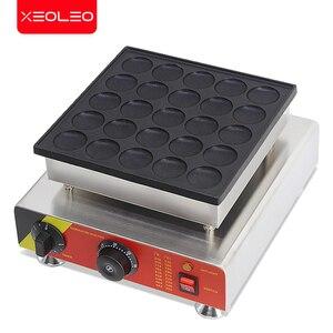Image 5 - XEOLEO 25 delik gözleme makinesi 800W Dorayaki maker yapışmaz Poffertjes makinesi Mini Dorayaki izgara Mini kek üreticisi