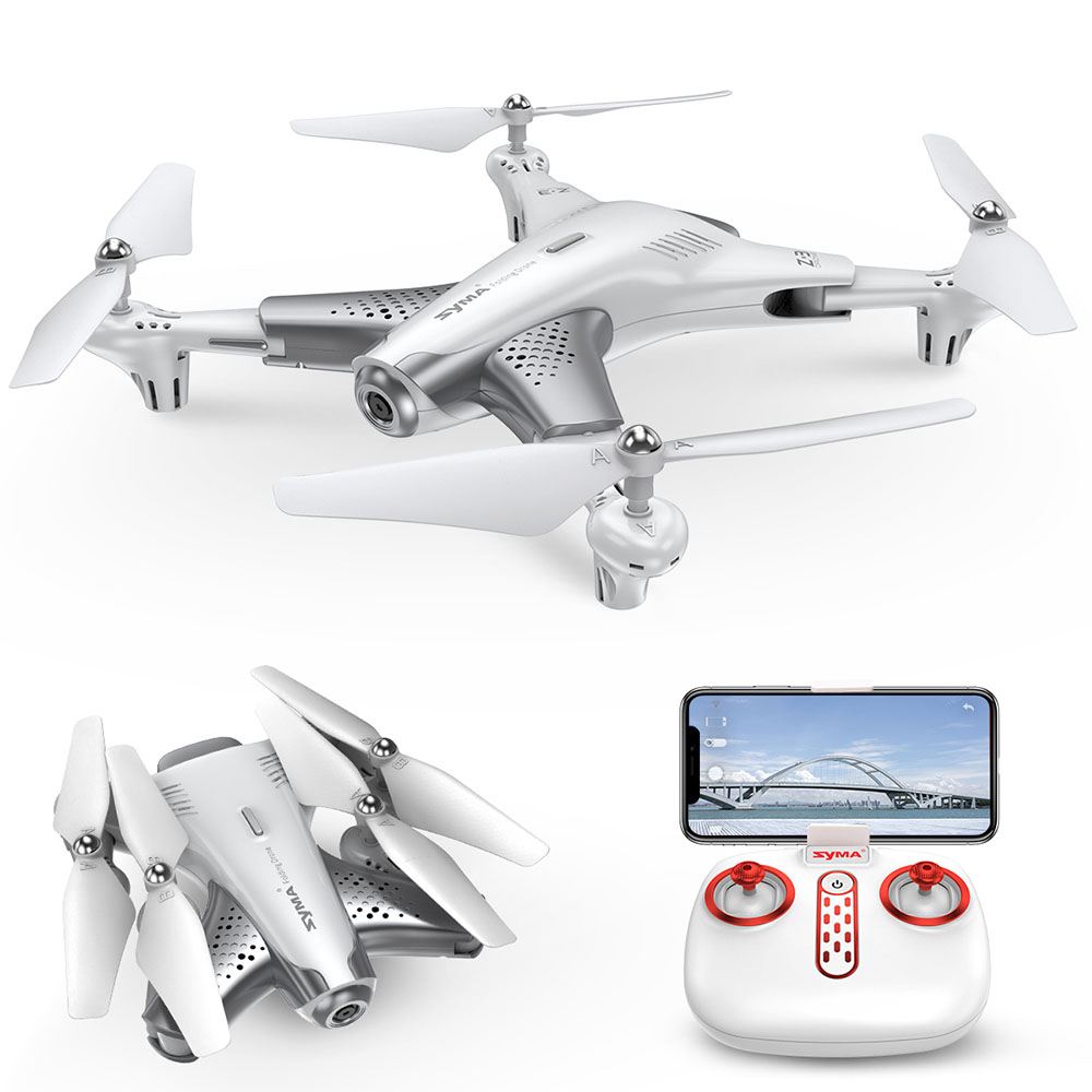 Syma Z3 RC Helicopter Smart Foldable RC Drone With 720p FPV WIFI HD Camera Real-time Altitude Hold Headless Mode Quadcopter Toys