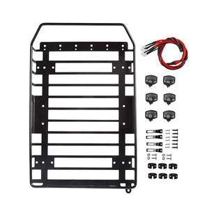 Image 4 - RC Roof Rack Luggage Carrier with LED Light for Axial SCX10 SCX10 II D90 Redcat GEN8 Traxxas TRX4 tamiya CC01 1/10 RC Crawler