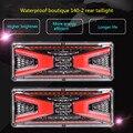 2 шт. 12 В Универсальный задний фонарь для автомобиля грузовика предупреждающие фонари сигнальный поток рулевой тормоз обратный трафик водо...