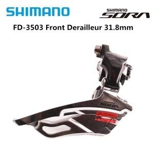 SHIMANO SORA 3503 Road Bike Bicycle Front Derailleur Folding Car FD-3503 Bike Parts Switch 3X9 Speed Original Derailleur 31.8mm(China)