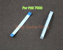 50pcs/lot Power Reset Switch Ribbon flex Cable for PS2 70000 7000X 7W Controller On Off Cable Repair Part