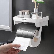Stand Organizer Tissue-Paper-Holder Toilet Bathroom-Accessories HOOQICT Dispenser Adhesive