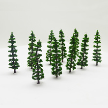 5cm model architecture ABS plastic green tree toys scale miniature wargame sandtable color plant for model diorama tiny scenery