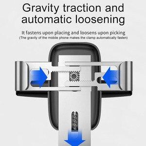 Image 3 - Baseus הכבידה מכונית טלפון בעל תמיכת Smartphone רכב סוגר CD חריץ הר נייד לרכב טעינת Stand