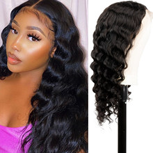 26 Inch Deep Wave Wig 13x4 Transparent Lace Front Human Hair Wig 180% Density T-Part Lace Wig for Black Women