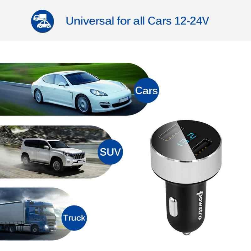 3.1A المزدوج USB شاحن سيارة مع LED عرض العالمي الهاتف المحمول سيارة-شاحن هواتف xiaomi فون 6 8 زائد اللوحي