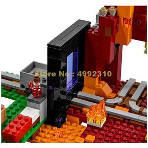 Image 5 -  417pcs my world the nether hell portal building blocks 3   21143 Bricks Toy