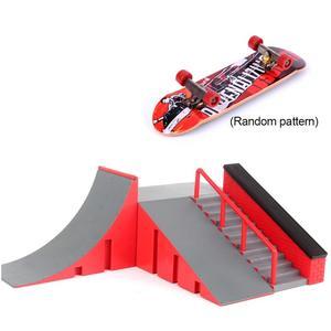 Mini Finger Skate Board Deck Fingerboard Skate Park Kit Table Game Ramp Track Toy Mini Skateboard For Extreme Sports(China)