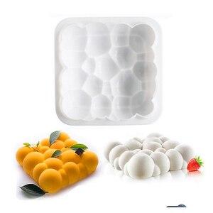 Нестандартный дизайн облаков 3D формы для торта, силиконовая форма для мусса, форма для шоколадных кондитерских изделий, сковорода для выпеч...