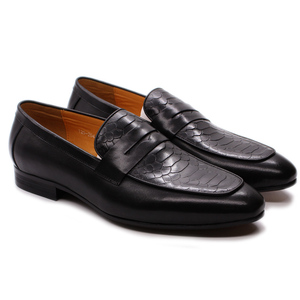 Image 3 - FELIX CHU Luxury Mens Loafer Shoes Genuine Leather Snake Print Wedding Party Casual Men Dress Shoes Slip On Footwear Comfortable