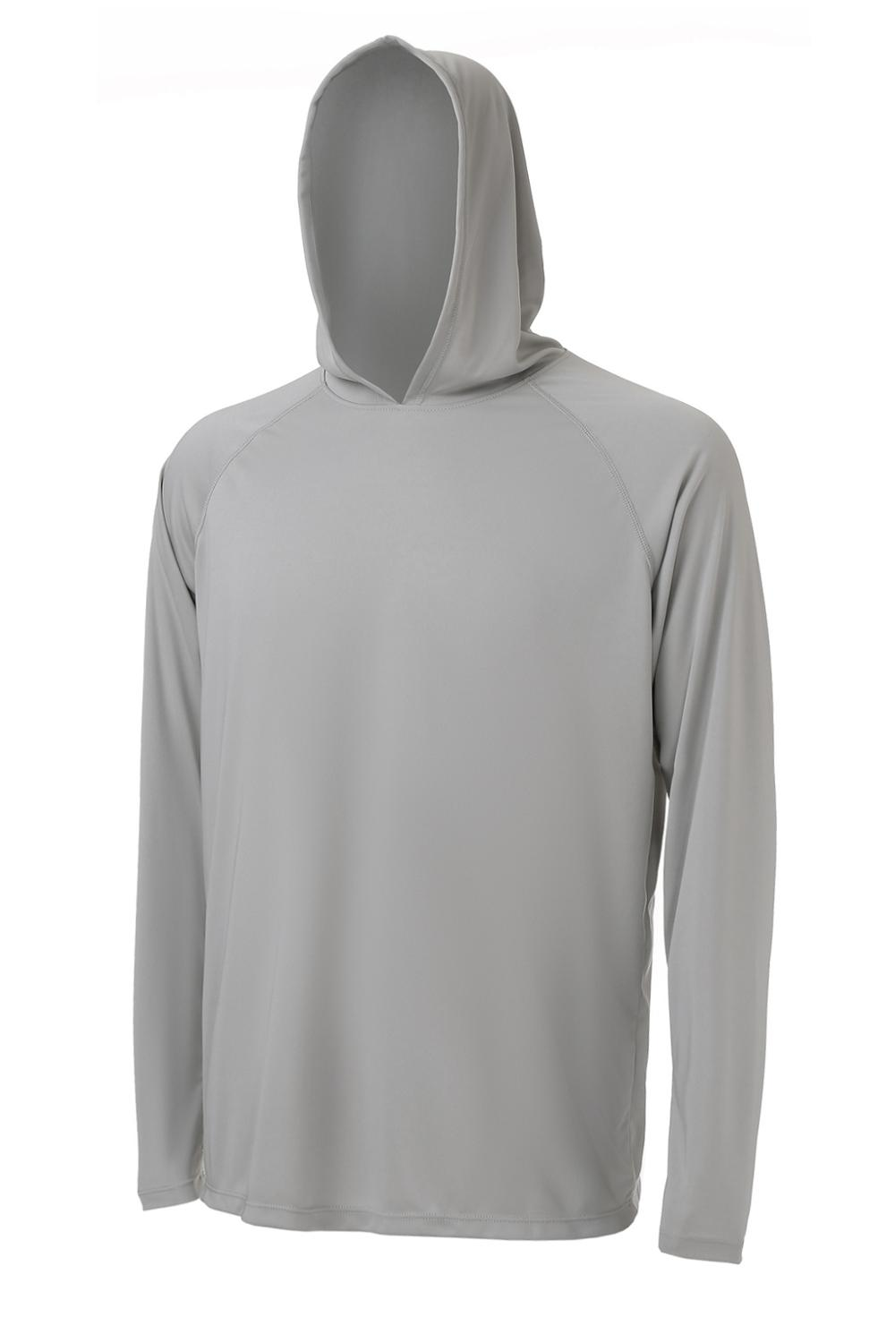 Men's Long Sleeve UPF 50+ Sun Protection Hoodie Dry Fit Sports Hooded T Shirts