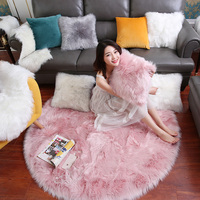 Nordic ins wind round plush bedroom carpet living room net red cloakroom dressing table mat home