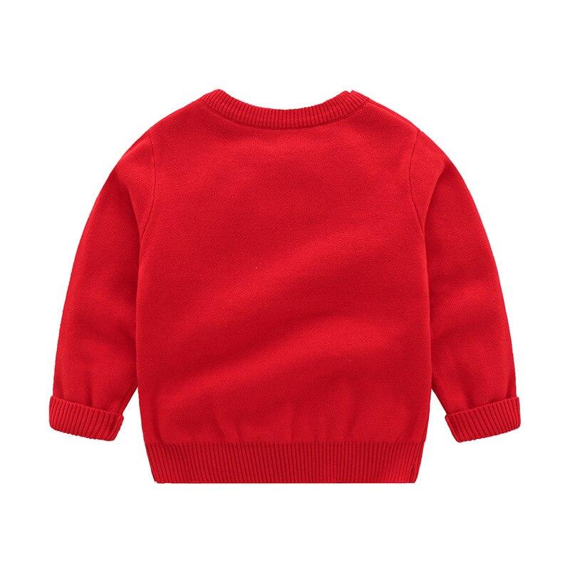 Christmas Baby Boys Girls Long Sleeve Cartoon Sweaters Autumn Winter Kids Cartoon Pullover Coat Baby Boys Girls Sweaters 4