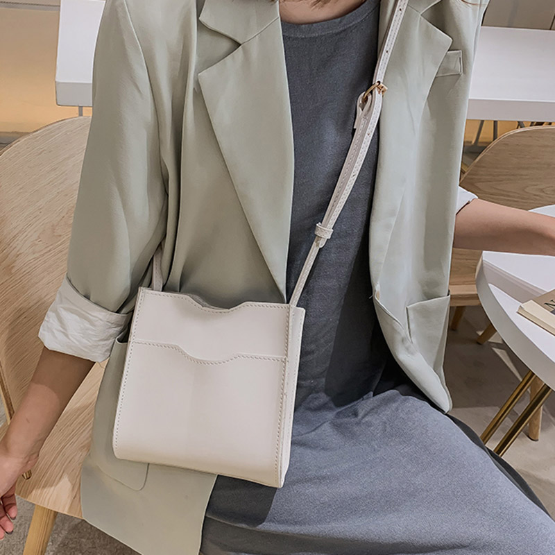 New Arrival Women's Handbags Coin Purse Simple Casual Crossbody Bag Solid Color Single Shoulder Strap Bucket Bag