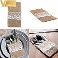 100 шт., декоративные держатели для свадебной посуды, 4x8 дюймов