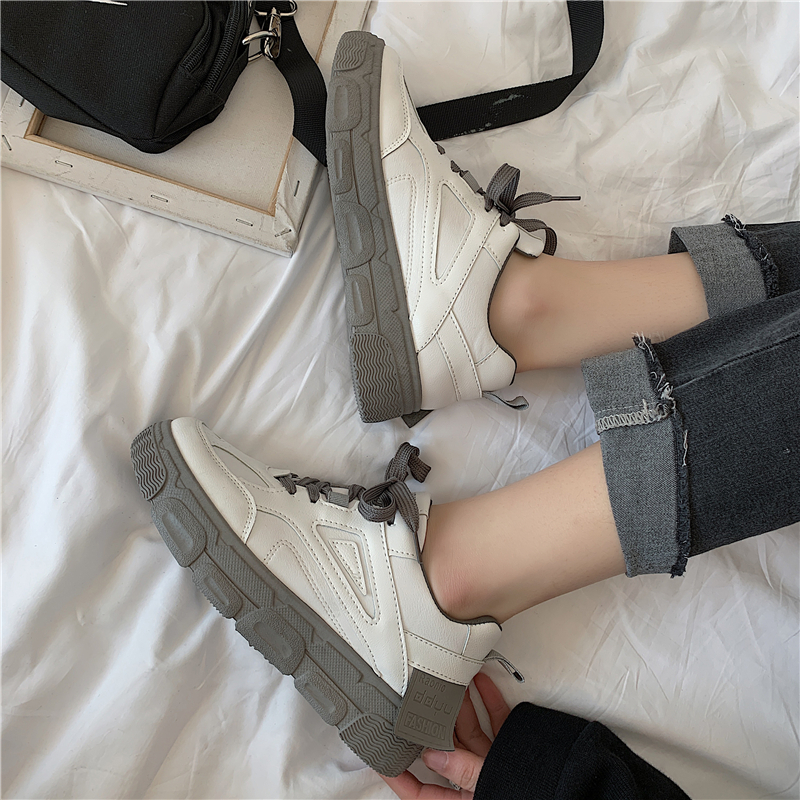 Women Casual Shoes New Women Sneakers Fashion Breathable PU Leather Platform White Women Shoes Soft Footwears