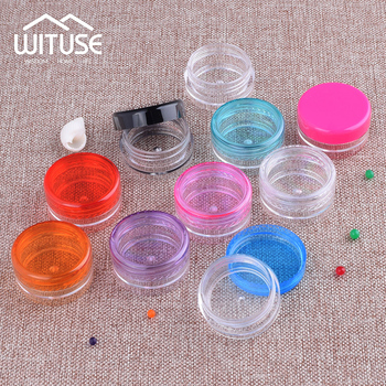 50 Pcs transparent small Round bottle 3g 5g Cosmetic Empty Jar Pot Eyeshadow Lip Balm Face Cream Sample Container 50pcs make up jar cosmetic sample empty container plastic round lid small bottle